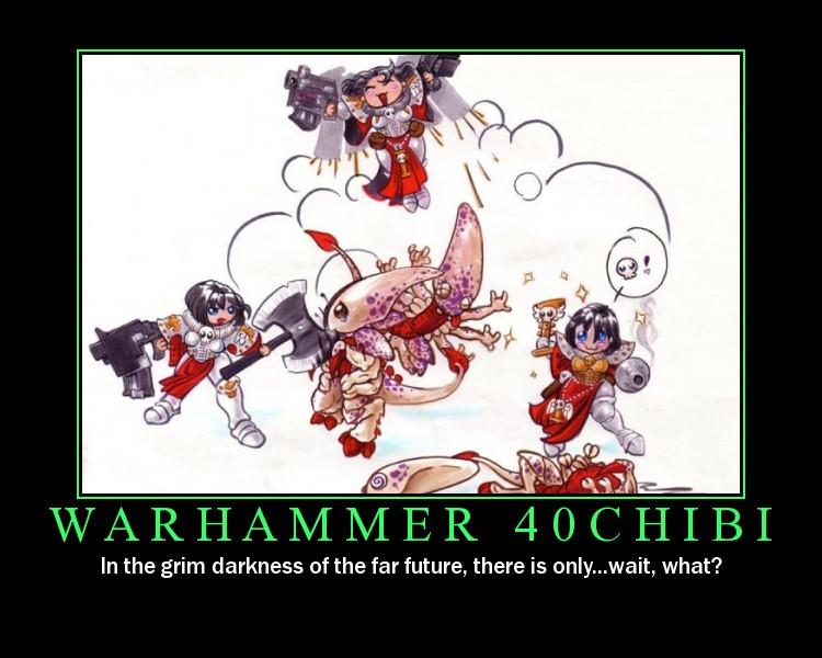 Motivacionales Warhammer-Chibi